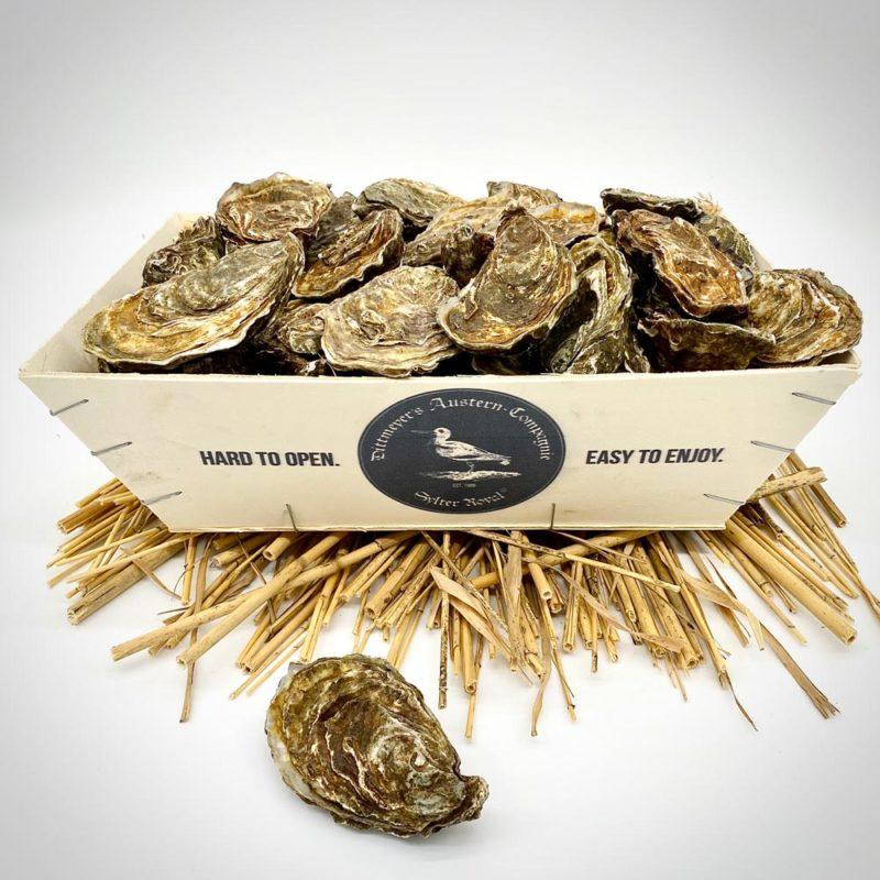 Spankorb mit 25 Sylter Royal Austern